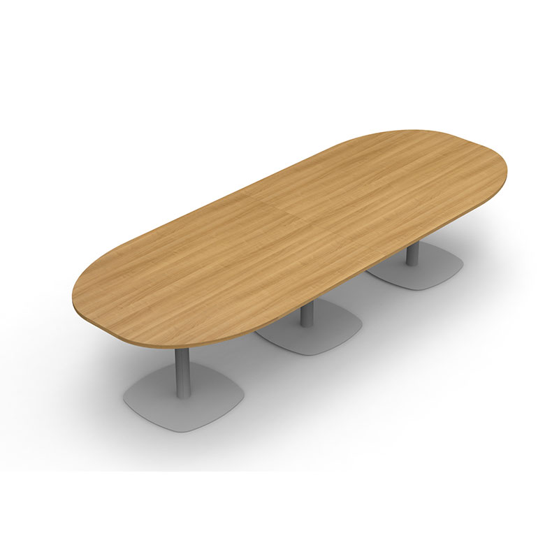 Colorado Totem Base Table – Double D-ended Boardroom