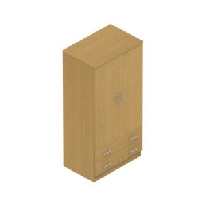 Colorado Dormitories – Double wardrobe +drawers