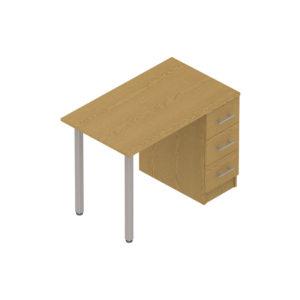 Colorado Dormitories – Pole leg pedestal desk