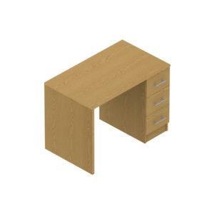 Colorado Dormitories – Panel end pedestal desk