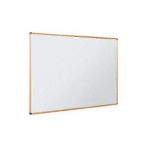 Light oak effect premium aluminium frame whiteboard