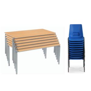 Classroom Furniture Silver Bundle