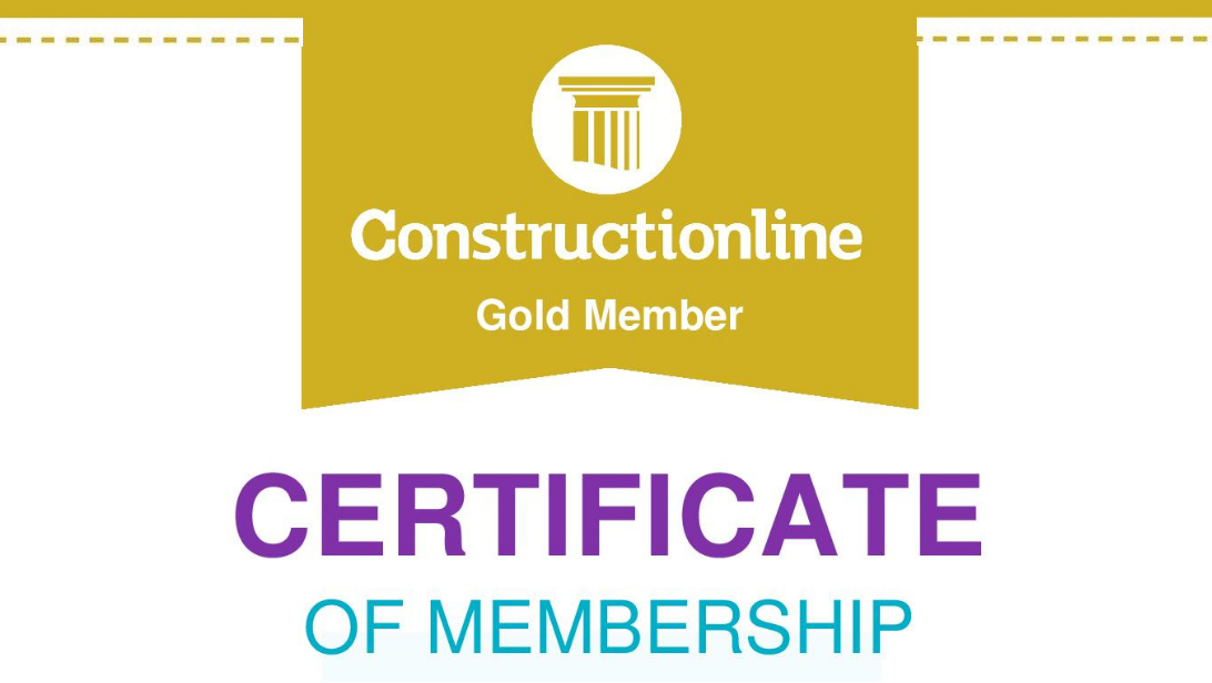 Great news! We are now Constructionline GOLD certified