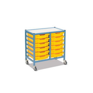 Handistor – Low shallow tray unit, double width