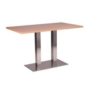 Barletta Stainless Steel Rectangular Dining Base